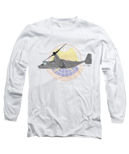 Cv-22b Osprey 7sos Long Sleeve T-Shirt by Arthur Eggers