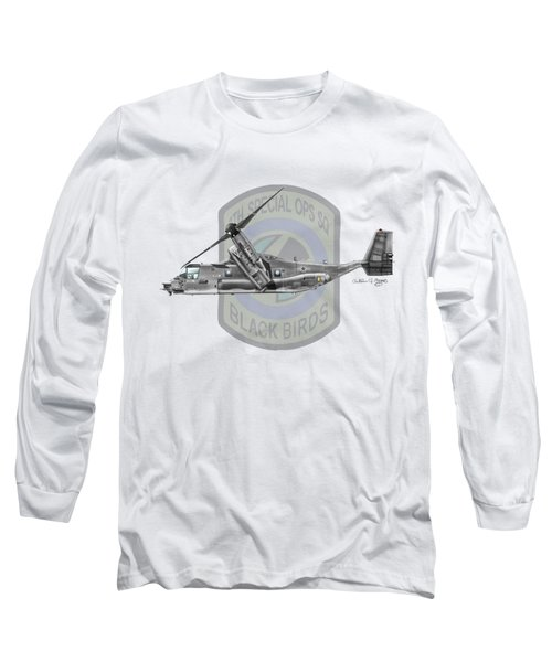Cv-22b Osprey 8sos Long Sleeve T-Shirt by Arthur Eggers
