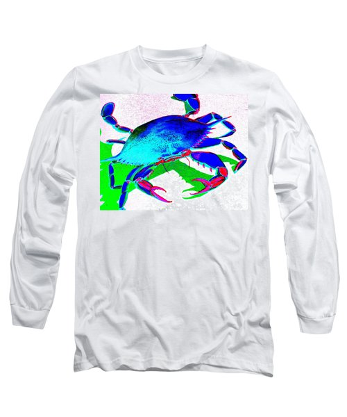 Cyan Crab Long Sleeve T-Shirt