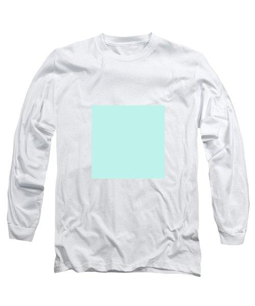 Cyan Ultra Soft Pastels Colour Palette Long Sleeve T-Shirt