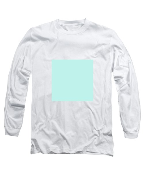 Cyan Ultra Soft Pastels Colour Palette Long Sleeve T-Shirt