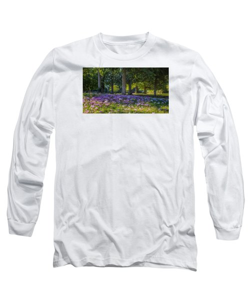 Cyclamen Under Trees Long Sleeve T-Shirt
