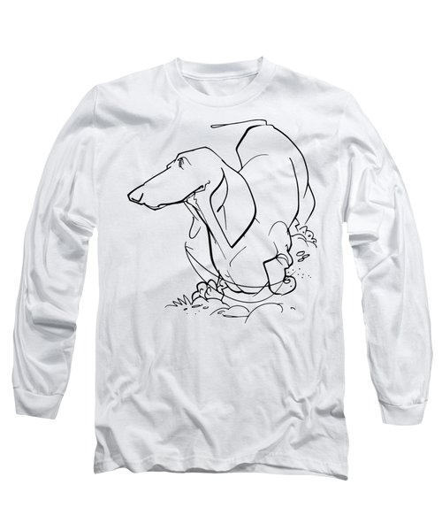 Dachshund Gesture Sketch Long Sleeve T-Shirt