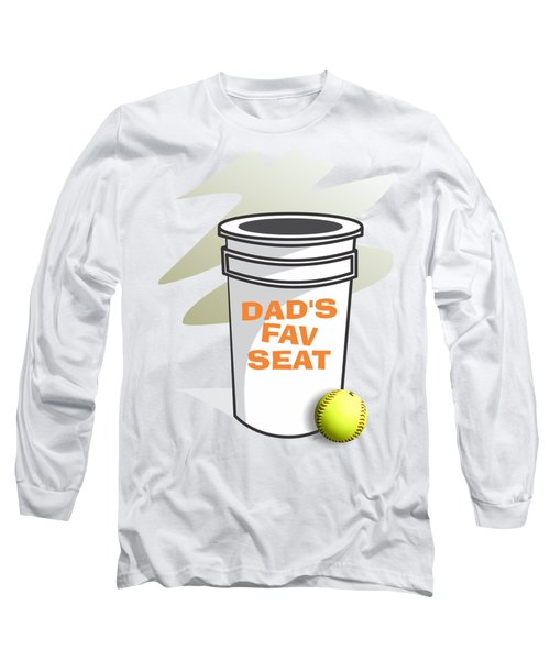 Dad's Fav Seat Long Sleeve T-Shirt by Jerry Watkins