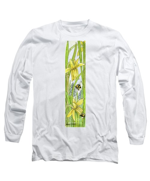 Daffodils And Bees Long Sleeve T-Shirt