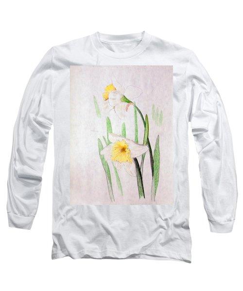Daffodils Long Sleeve T-Shirt by J R Seymour
