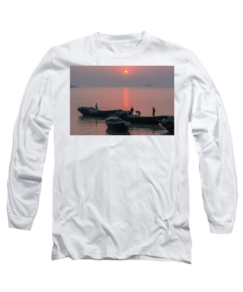Daily Chores On The River Long Sleeve T-Shirt
