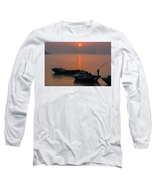 Daily Life Of Boatman Long Sleeve T-Shirt