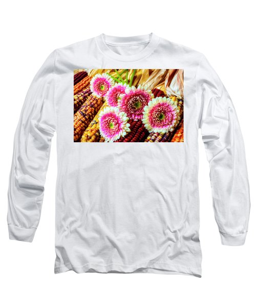 Daises On Indian Corn Long Sleeve T-Shirt