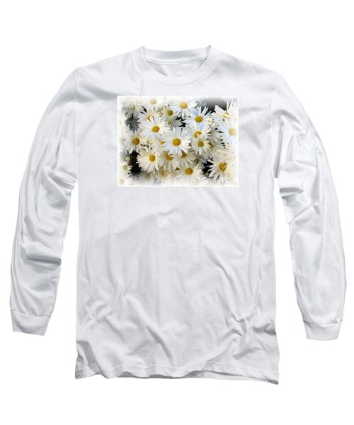 Daisy Bouquet Long Sleeve T-Shirt by Carol Sweetwood