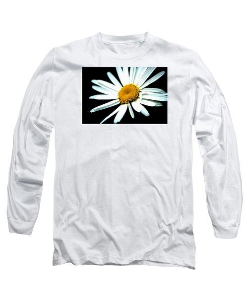 Long Sleeve T-Shirt featuring the photograph Daisy Flower - White Sun by Alexander Senin