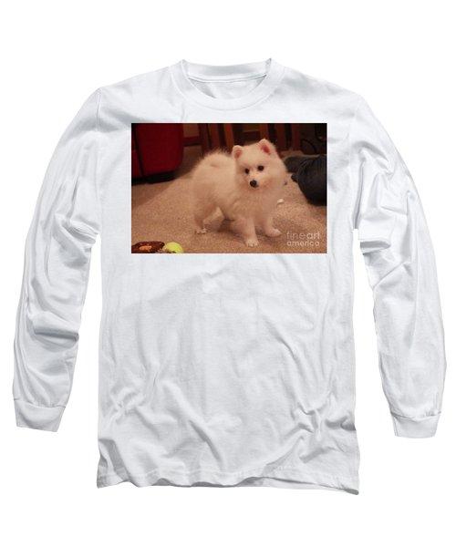 Daisy - Japanese Spitz Long Sleeve T-Shirt by David Grant