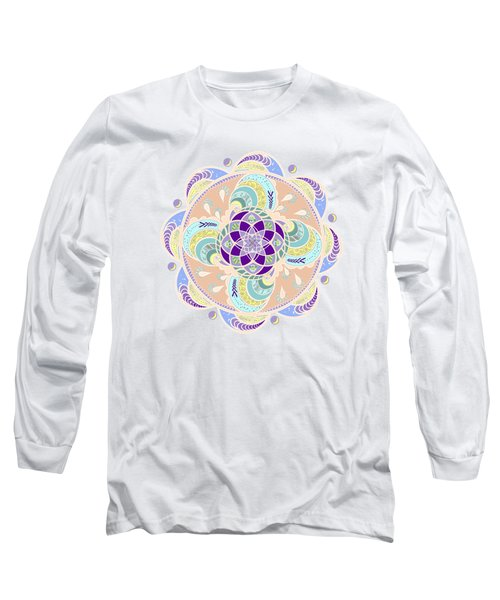 Daisy Lotus Meditation Long Sleeve T-Shirt by Deborah Smith