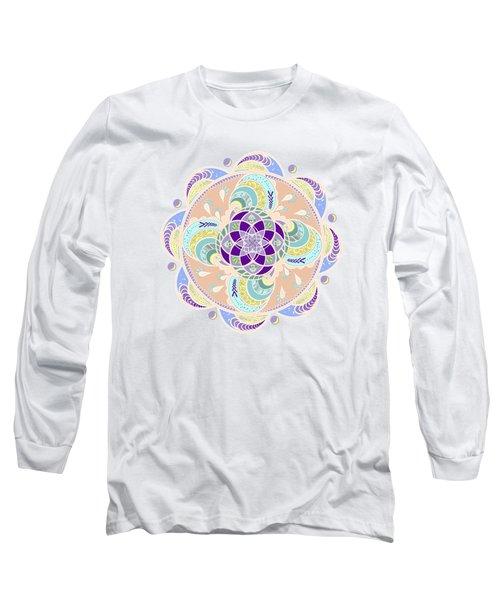 Daisy Lotus Meditation Long Sleeve T-Shirt