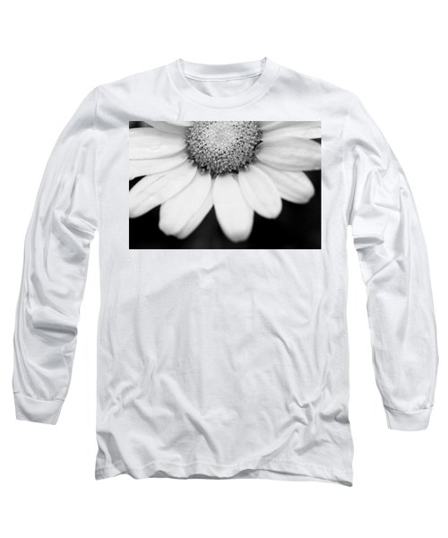 Daisy Smile - Black And White Long Sleeve T-Shirt