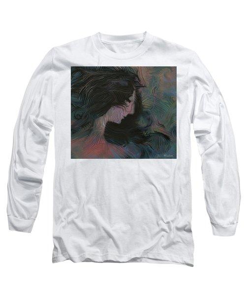 Long Sleeve T-Shirt featuring the painting Dakota by David Klaboe