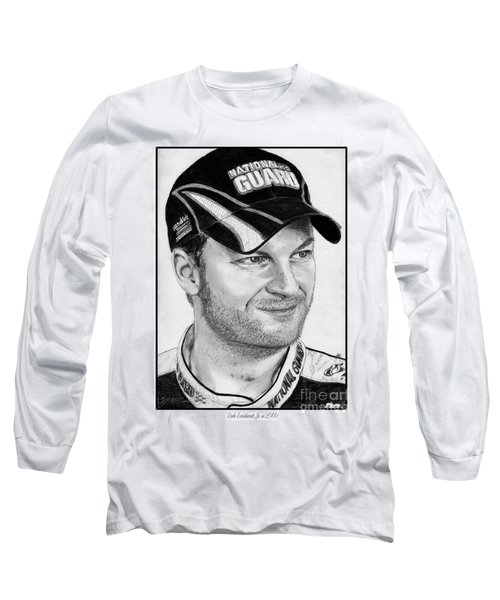 Dale Earnhardt Jr In 2009 Long Sleeve T-Shirt by J McCombie