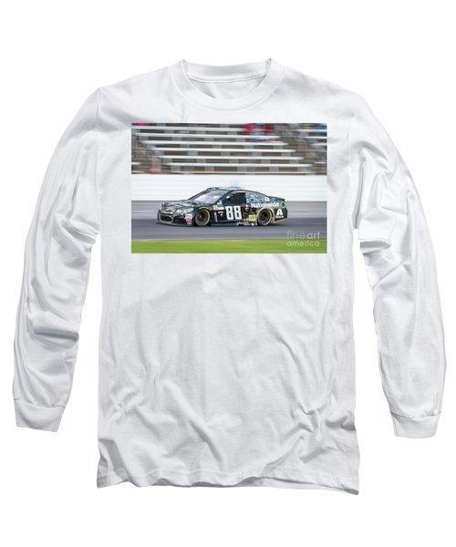 Dale Earnhardt Jr Running Hard At Texas Motor Speedway Long Sleeve T-Shirt