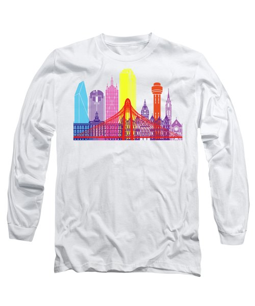 Dallas Skyline Pop Long Sleeve T-Shirt by Pablo Romero
