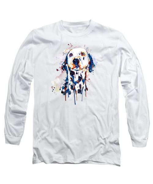 Dalmatian Head Long Sleeve T-Shirt by Marian Voicu