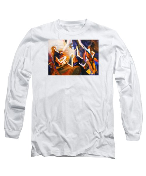 Long Sleeve T-Shirt featuring the painting Dance Of The Druids by Georg Douglas