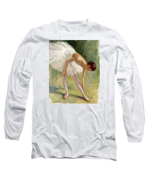Dancer Adjusting Her Slipper. Long Sleeve T-Shirt
