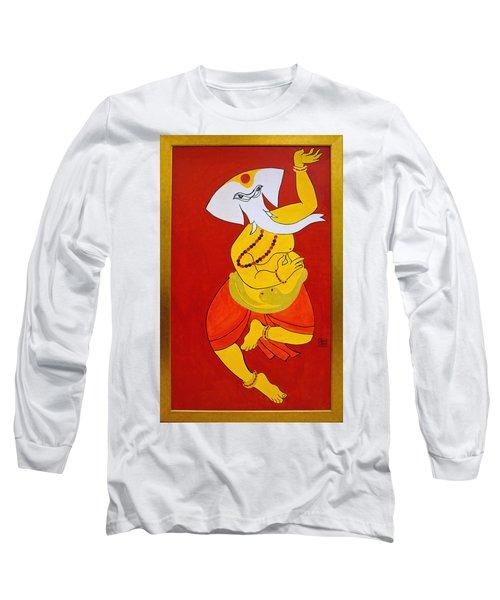 Dancing Ganesha Long Sleeve T-Shirt