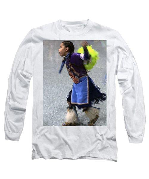Dancing Native Child Long Sleeve T-Shirt