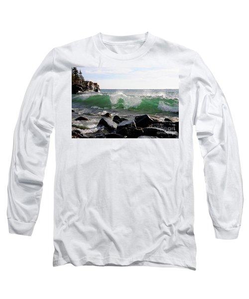 Dancing Waves Long Sleeve T-Shirt by Sandra Updyke