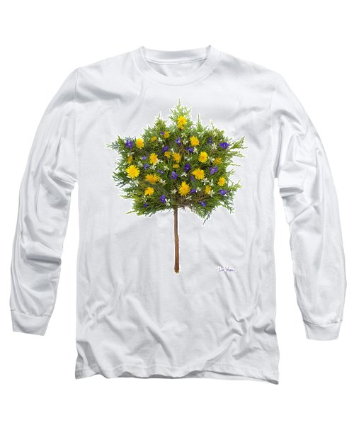 Long Sleeve T-Shirt featuring the photograph Dandelion Violet Tree by Lise Winne