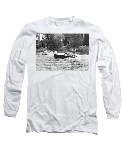 Dangerous Water Skiing Long Sleeve T-Shirt