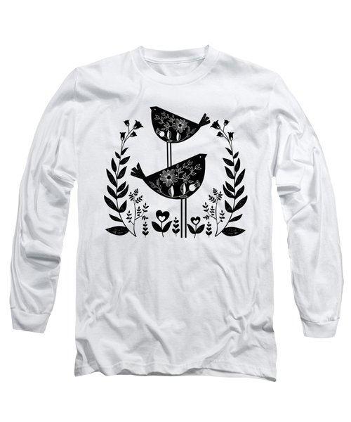 Danish Birds Of Good Luck And Good Life Long Sleeve T-Shirt