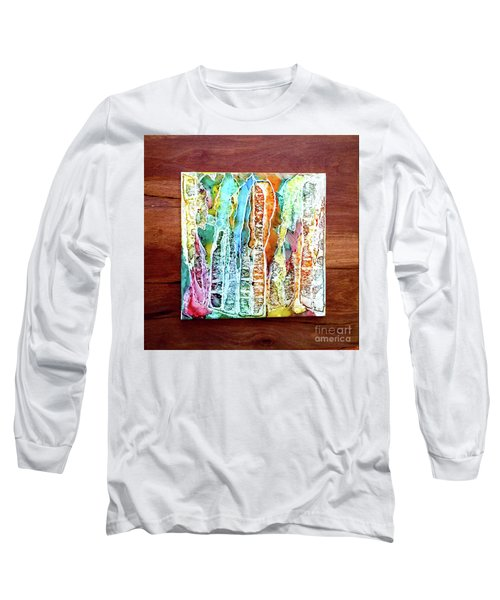 Danxia Water Falls Long Sleeve T-Shirt by Alene Sirott-Cope