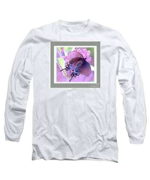 Long Sleeve T-Shirt featuring the photograph Dark Butterfly by Shirley Moravec