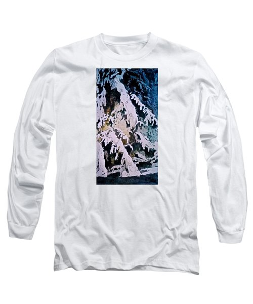 Long Sleeve T-Shirt featuring the painting Dark Cover by Carolyn Rosenberger