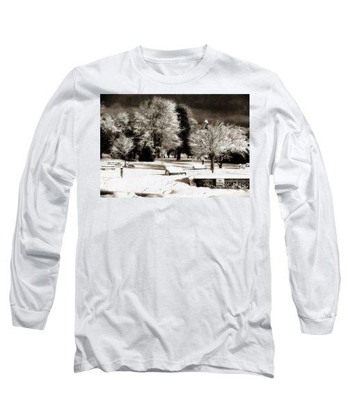 Dark Skies And Winter Park Long Sleeve T-Shirt