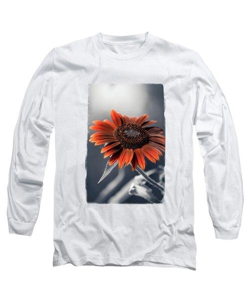 Dark Sunflower Long Sleeve T-Shirt by Konstantin Sevostyanov