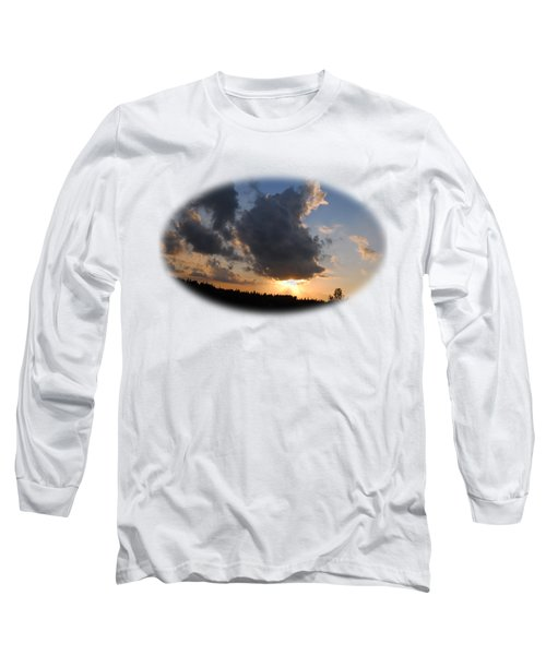 Dark Sunset T-shirt Long Sleeve T-Shirt by Isam Awad