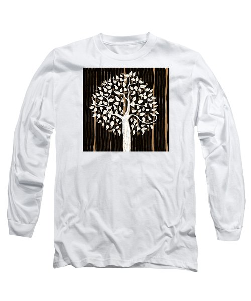 Long Sleeve T-Shirt featuring the painting Dark Winter by Patricia Arroyo