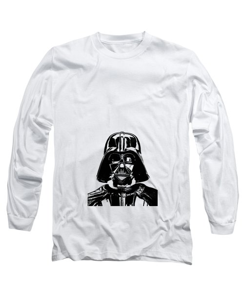 Darth Vader Painting Long Sleeve T-Shirt by Edward Fielding