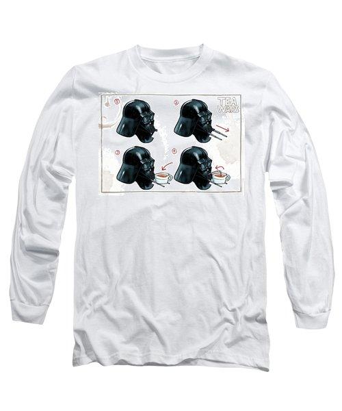 Darth Vader Tea Drinking Star Wars Long Sleeve T-Shirt