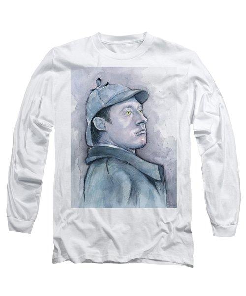 Data As Sherlock Holmes Long Sleeve T-Shirt