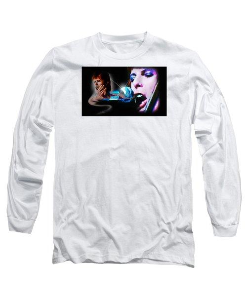 David Bowie  - Jean Genie Long Sleeve T-Shirt by Glenn Feron