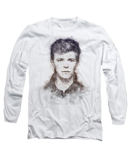 David Bowie Portrait 01 Long Sleeve T-Shirt
