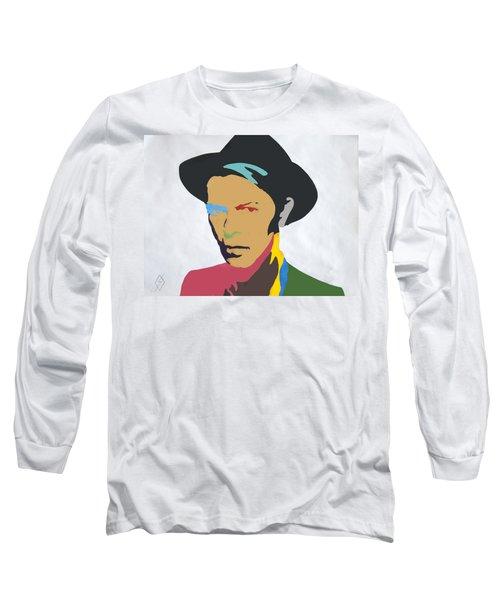 David Bowie Long Sleeve T-Shirt by Stormm Bradshaw