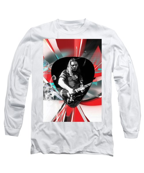 David Gilmour Pink Floyd Art Long Sleeve T-Shirt by Marvin Blaine