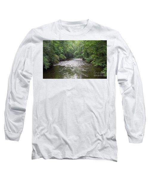 Davidson River In North Carolina Long Sleeve T-Shirt