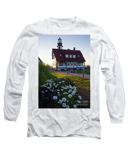 Long Sleeve T-Shirt featuring the photograph Dawn At Portland Head Light, Cape Elizabeth, Maine  -08614 by John Bald