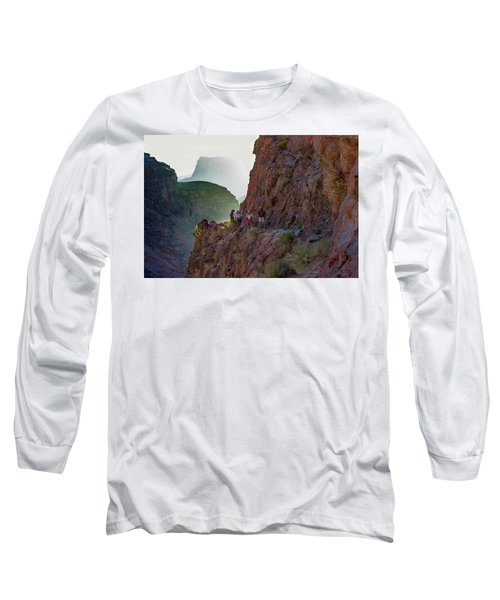 Dawn On Bright Angel Trail Long Sleeve T-Shirt
