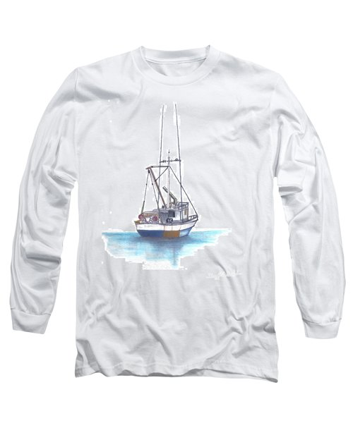 Long Sleeve T-Shirt featuring the drawing Days End by Terry Frederick